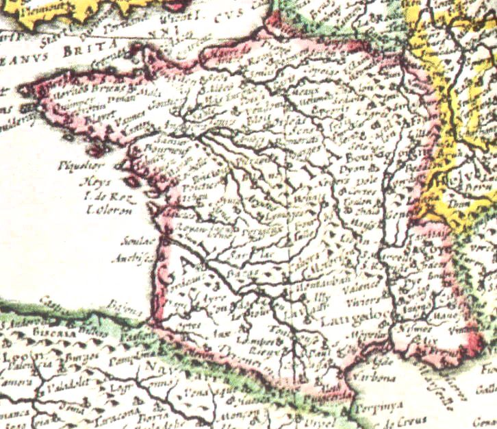 Thumbnail of 1635 map of France