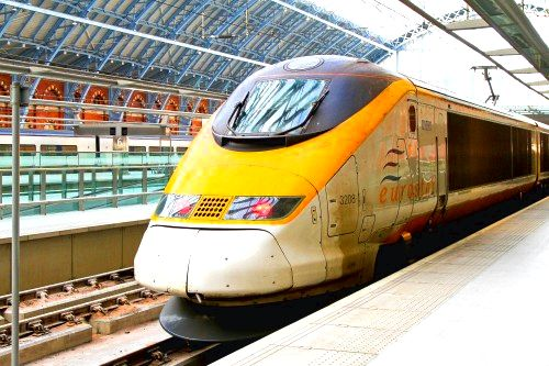 Eurostar train in paris