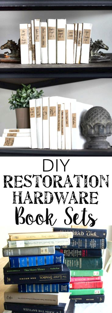 DIY Restoration Hardware French Mute Books  blesserhouse.com