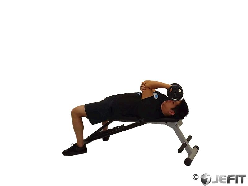 Dumbbell Single Arm Supinated Triceps Extension