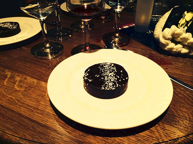 Lava cake for dessert in Paris, France