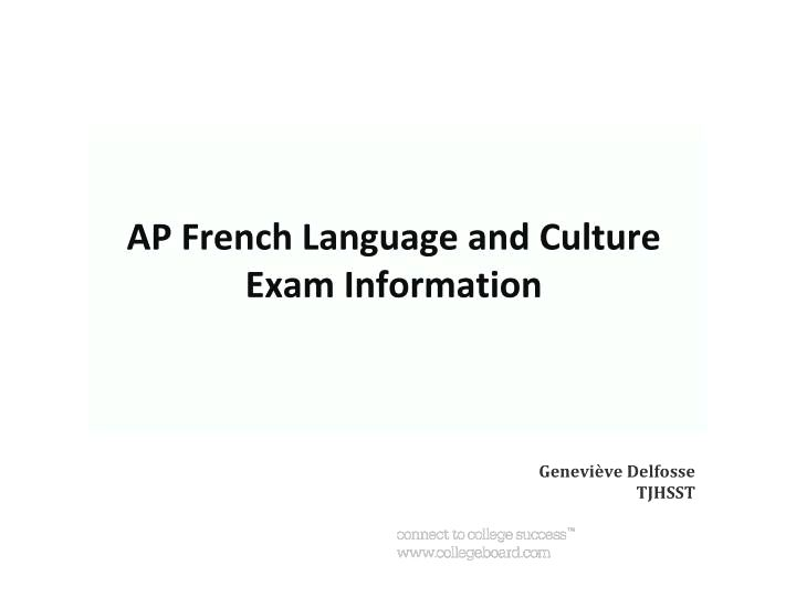French: french language and culture for individuals underneath the