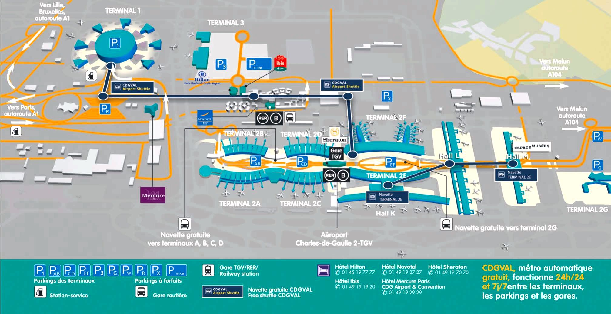 Paris airport terminal transportation Orly airport