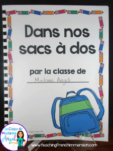 La rentrée! Everything you need to make a class book in your Core or Immersion French class! Great for Back to School!