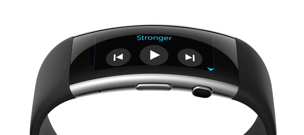 New Microsoft Band with music controls