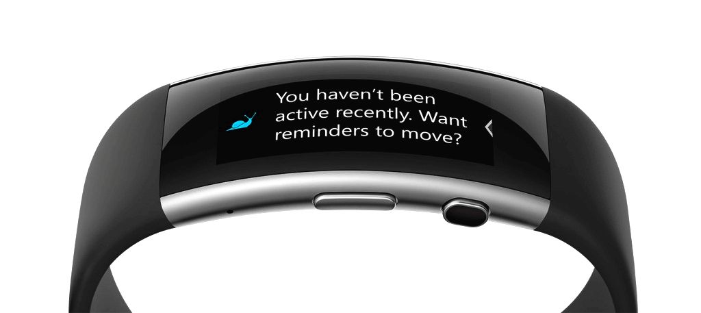 The new Microsoft Band with activity reminder